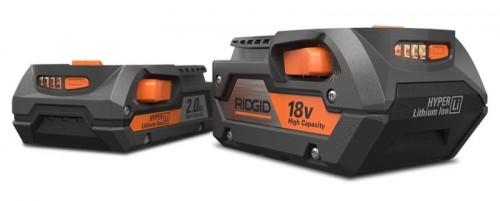 Ridgid представила 12-вольтные и 18-вольтные аккумуляторы емкостью 2 и 4 Ач