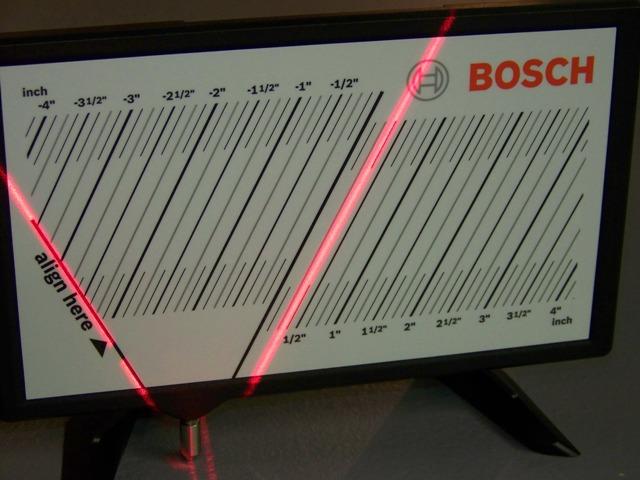 Первый в мире поверхностный лазер Bosch GSL 2