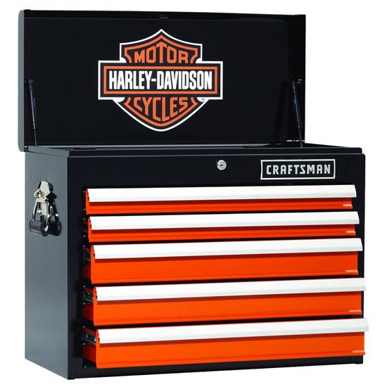 Инструментальные ящики Craftsman в стиле Harley-Davidson