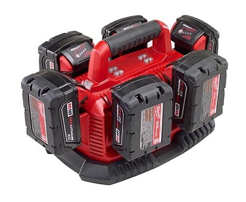 Зарядное устройство для 6 аккумуляторов от Milwaukee