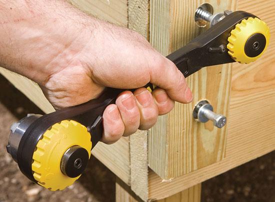 разводной ключ с трещоткой Stanley TwinTec