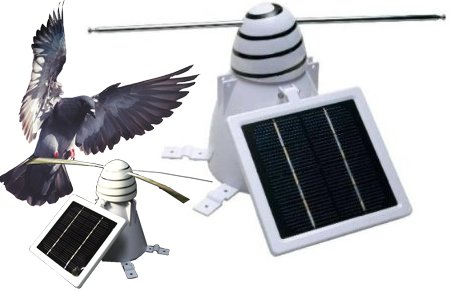 Отпугиватель птиц на солнечных батареях