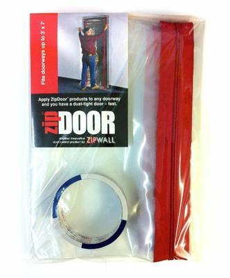Временная дверь на молнии ZipDoor защитит от пыли во время ремонта