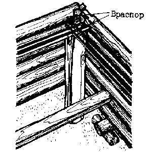 Установка простейших лесов при строительстве сруба