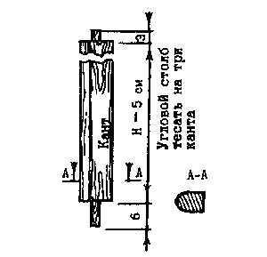 Изготовление углового верандного столба при строительстве сруба