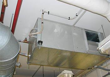 Потолочный тепловой насос. В данном случае используется в качестве доводчика температуры в помещении