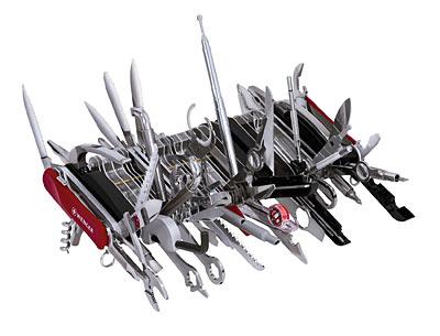 Гигантский перочинный нож Wenger или 87 инструмент «в одном флаконе»